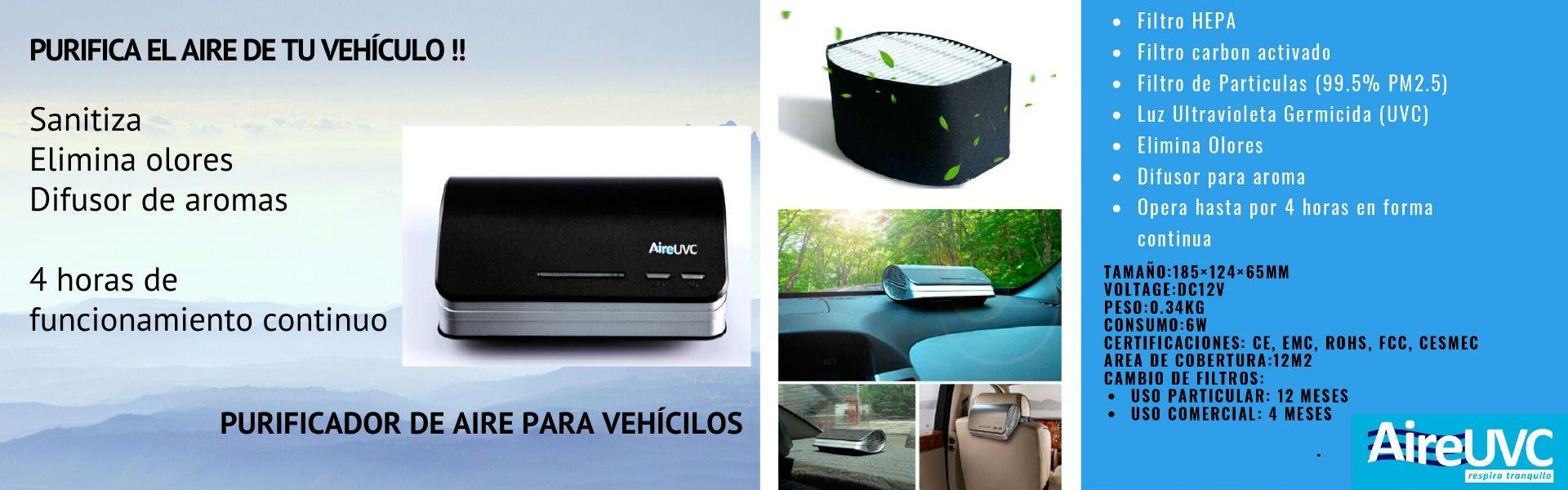 Luz ultravioleta UV-C para sanitización de vehículos