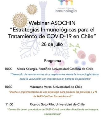 Estrategias Inmunológicas para el Tratamiento de COVID19 en Chile
